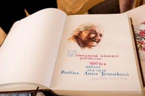 Oslava 100. narozenin paní Pavlíny Jirouškové