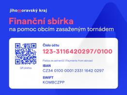Jihomoravský kraj - sbírka na pomoc lidem a obcím na Hodonínsku a Břeclavsku