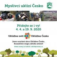 Myslivci uklízí Česko 4.4. a 19. 9. 2020
