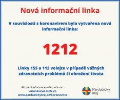 Informační linka 1212 - koronavir