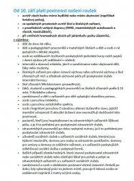 Aktuální opatření platná pro území celé České republiky od 10. 9. 2020